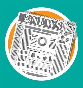 Giornale quotidiano in bianco e nero.