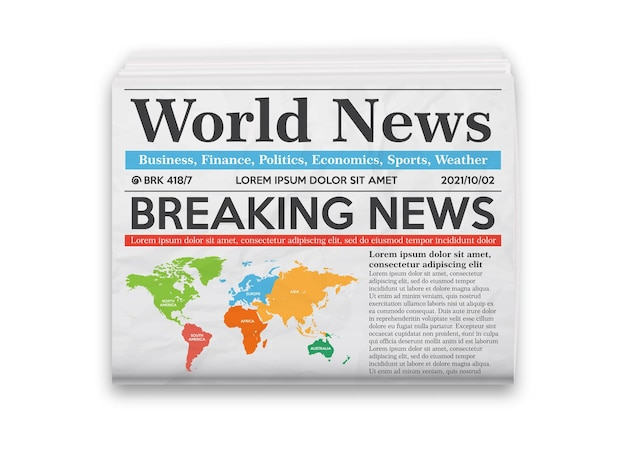 Giornale quotidiano con le ultime notizie