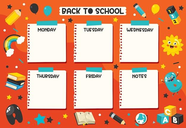 Agenda giornaliera e settimanale per bambini