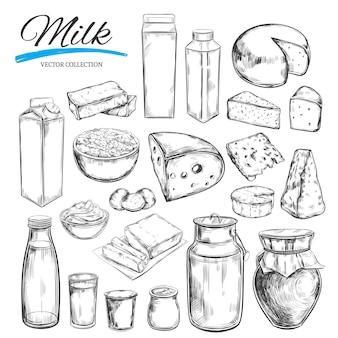Raccolta di prodotti lattiero-caseari
