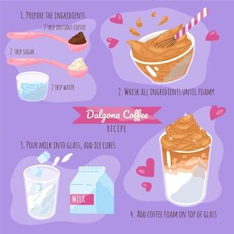 Ricetta del caffè dalgona