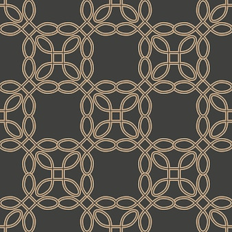 Damasco seamless pattern retrò curva di sfondo telaio a croce linea di catena.