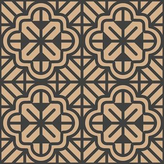 Damasco seamless pattern retrò curva di sfondo croce geometria poligono caleidoscopio.