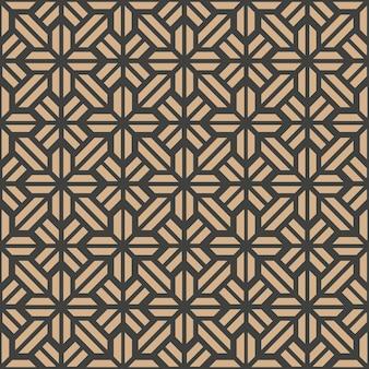 Damasco senza giunture modello retrò geometria di sfondo poligono croce caleidoscopio.