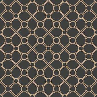 Damasco seamless pattern retrò sfondo rotondo curva di controllo croce telaio catena linea caleidoscopio.