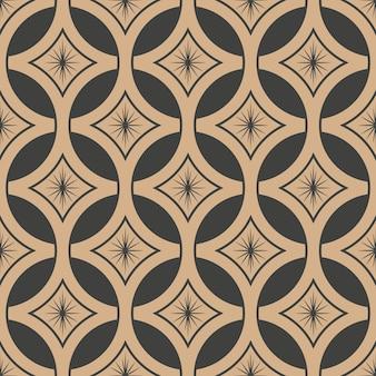 Damasco seamless pattern retrò sfondo rotondo stella croce telaio catena fiore.