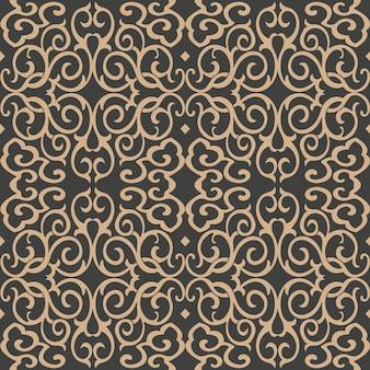Damasco seamless pattern retrò sfondo curva a spirale croce fama catena caleidoscopio