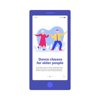 Pagina delle lezioni di ballo per persone anziane