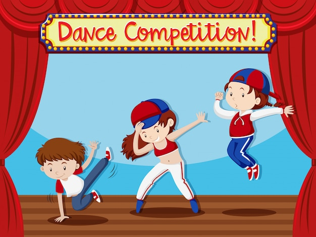 Concetto di performance di dance compeition