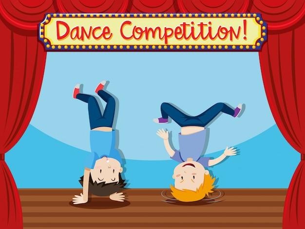 Danza comptition persone breakdance