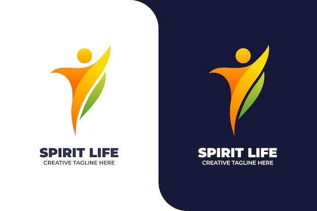 Logo del gradiente del corpo di esercizio di danza