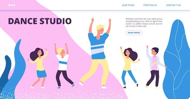 Modello di pagina di destinazione per studio di danza