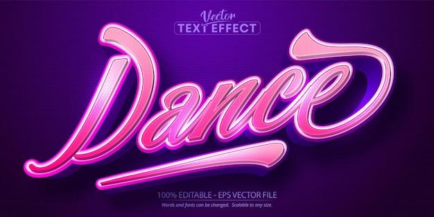Testo di danza, effetto di testo modificabile in stile calligrafico