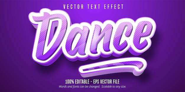 Testo di danza, effetto di testo modificabile in stile cartone animato