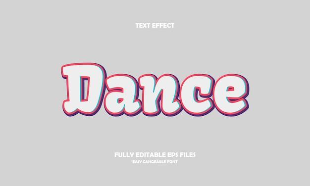 Effetto testo danza
