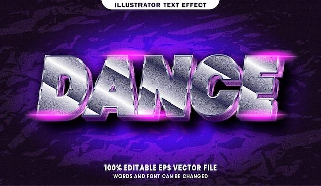 Testo di danza, effetto di testo modificabile in stile carattere