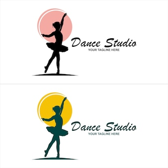 Estratto di vettore di disegno di logo di ballerino