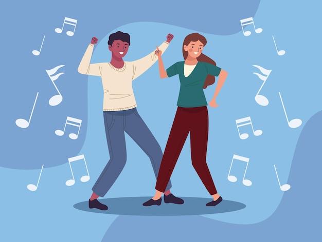 Coppia di ballerini che ballano