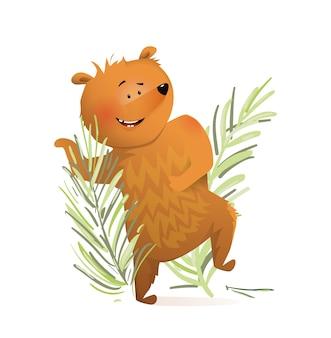 Orso danzante per l'illustrazione dei bambini
