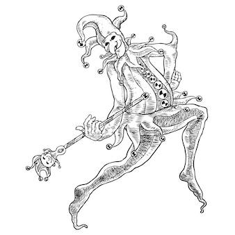 Dancing jester lineart