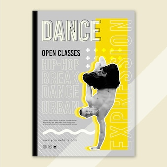 Modello di volantino verticale di classi aperte danzanti