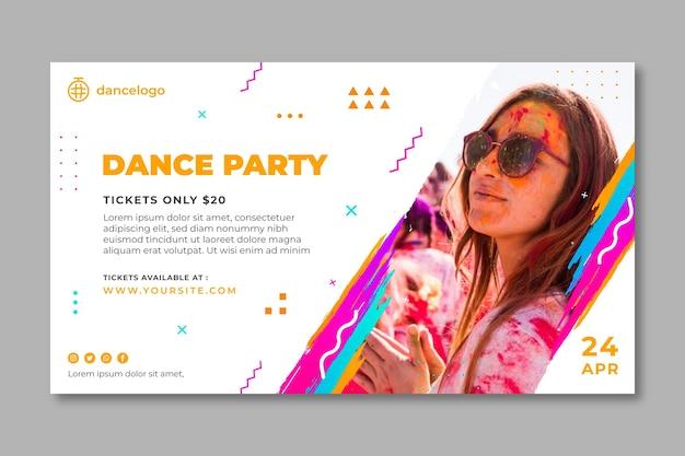 Modello di banner festa danzante