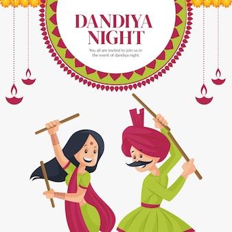 Modello di progettazione banner notte dandiya