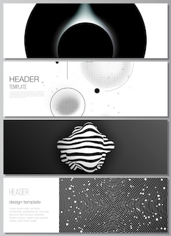 Set di banner scuro