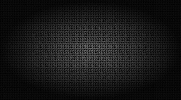 Illustrazione di griglia in fibra di carbonio nero scuro