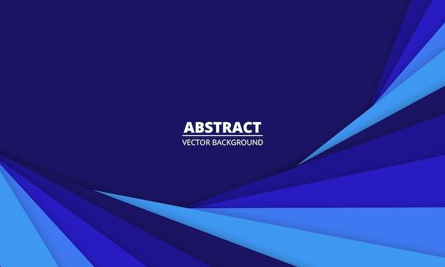 Sfondo astratto blu scuro con linee di taglio di carta blu.