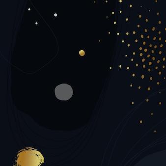 Sfondo artistico blu scuro con coriandoli d'oro. illustrazione vettoriale.