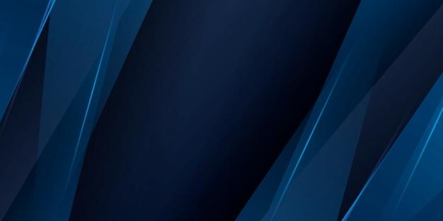 Sfondo blu scuro con elementi grafici astratti