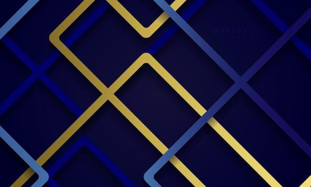 Sfondo blu scuro con forma quadrata astratta