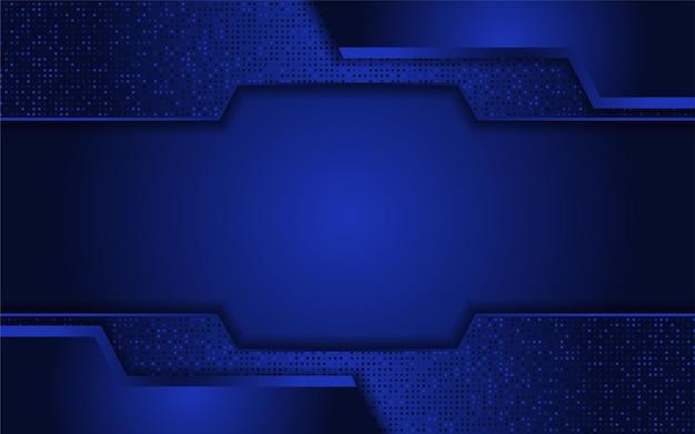 Sfondo blu scuro con moderna forma astratta Vettore Premium