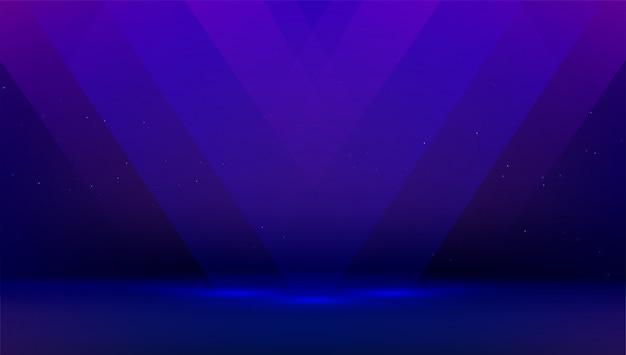 Sfondo blu scuro con raggi di luce. stanza vuota, presentazione del prodotto. palco nero per mostrare e mostrare oggetti per la pubblicità.
