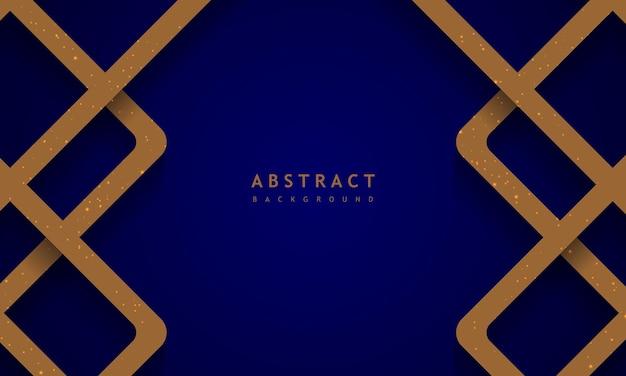 Sfondo blu scuro con concetto di banner oro blu struttura solida
