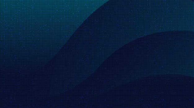 Microchip del circuito blu scuro su sfondo tecnologico, digitale hi-tech e concetto di sicurezza