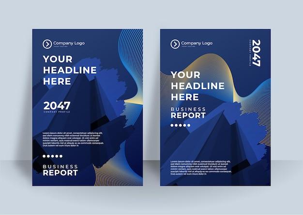 Identità aziendale blu scuro copertina business vector design, flyer brochure pubblicità sfondo astratto, modello di layout rivista depliant moderno poster, relazione annuale per la presentazione