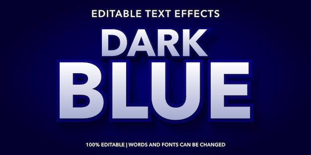 Effetto di testo modificabile blu scuro