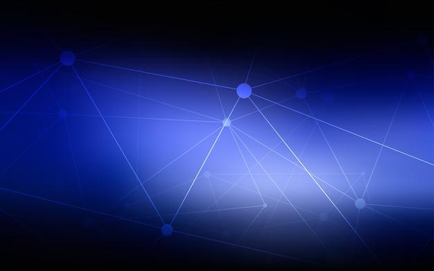 Modello vettoriale blu scuro con sfere