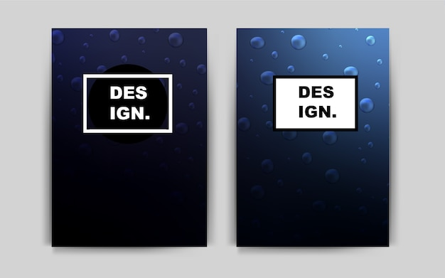 Modello vettoriale blu scuro per pagine di destinazione