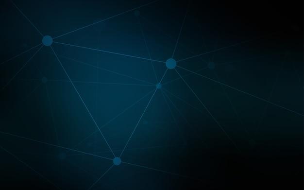 Modello vettoriale blu scuro con cerchi
