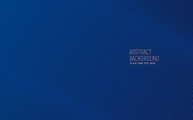 Blu scuro con linee curve pattern con texture di sfondo, modello moderno e minimale con spazio di copia.