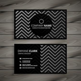 Design scuro biglietto da visita con forme a zigzag