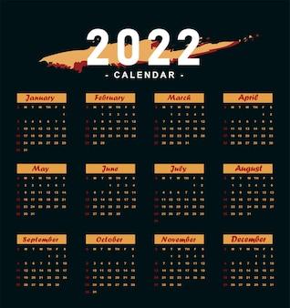 Calendario oscuro 2022