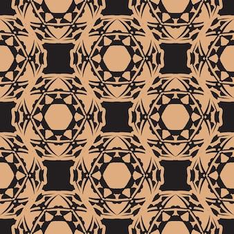Reticolo senza giunte rugiadoso scuro con ornamenti d'epoca. elemento floreale indiano. ornamento grafico per carta da parati, tessuto, imballaggio, confezionamento.