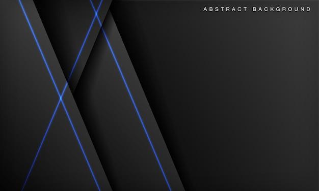 Sfondo tecnologico futuristico scuro con linee luminose blu rosse
