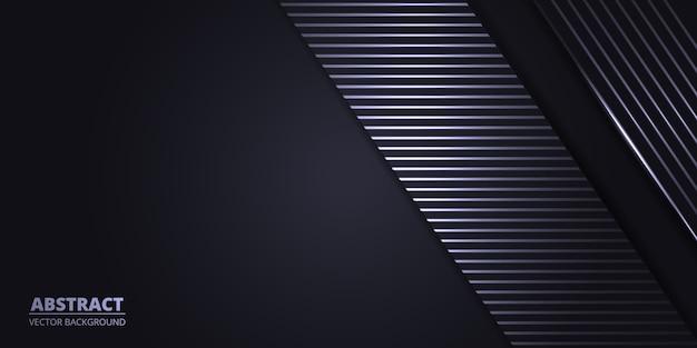 Sfondo astratto grigio scuro con linee di luce bianche