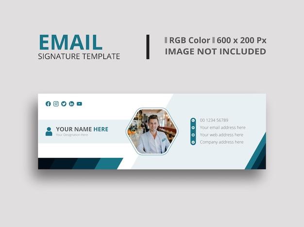 Design della firma e-mail verde scuro