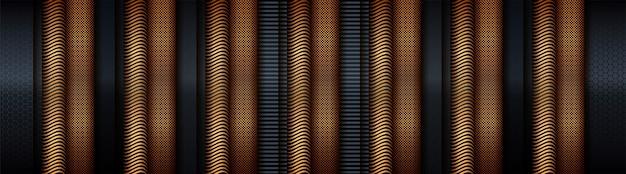Grigio scuro con materiale tecnico in stile oro sfumato